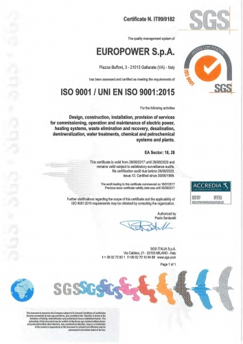 Quality Environmental and Safety & Health Certifications